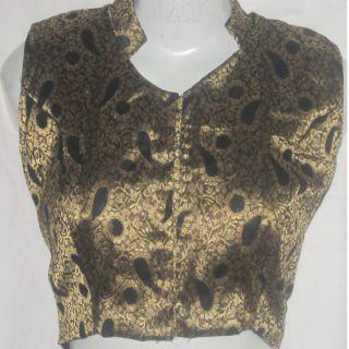 Designer Bridal latest princess stand collar readymade saree blouse / choli size 36