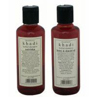 Combo of Honey Almond  Sat Ritha Herbal Shampoo - By Khadi