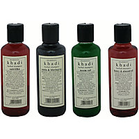 Combo of Complete Hair Care  Damage Repair Herbal Shampoos - Pack of 4 - Khadi