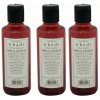 Hair Shampoo - Honey  Almond Oil Shampoo - Combo Pack of 3 - By Khadi