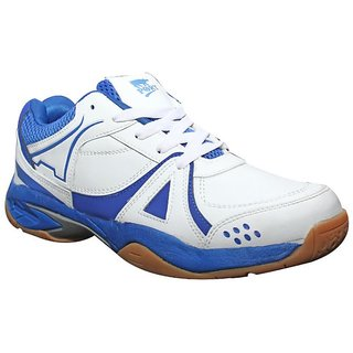 Port Activa Women White Pu Badminton Sport Shoes