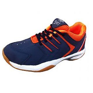 Port Quantum Spark Power Cushion Women Orange Badminton Sports Shoes