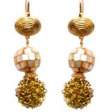 Ratnakar Designer Shell Ball Earring