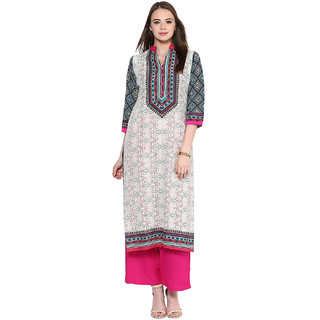 Jaipurkurti Off-White Cotton Printed Kurta