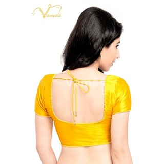 VAMAS DESIGNER NEW BLOUSES-Yellow-VDBMX35SL615-VQ-Net