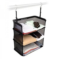 Urban Living Black Shelves to Go Portable Travel Shelves-Large