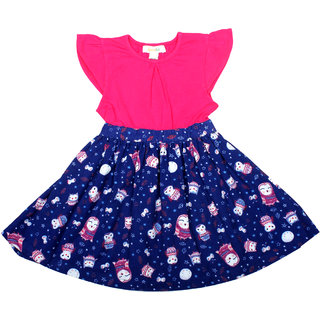 Apricot Kids Blue Frock For Girls
