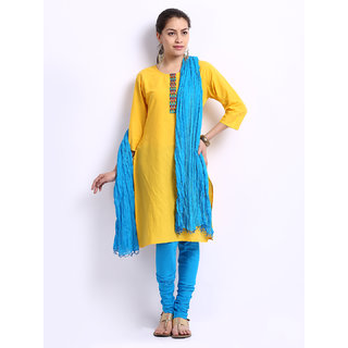PISTAAS TURQUOISE BLUE Bottom With Dupatta