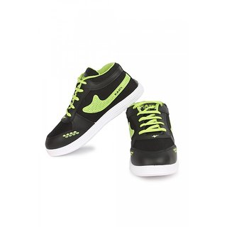 AXTER KDS SHOES BLACK  GREEN AST-208