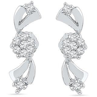 Ishis 18 Kt Marvelous  White Gold Diamond Fahion Earring (0.15 CT)