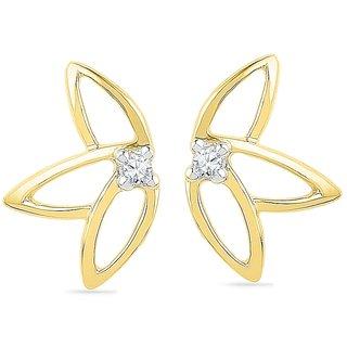Ishis 18 Kt Artistic  Yellow Gold Diamond Fashion Earring (0.04 CT)