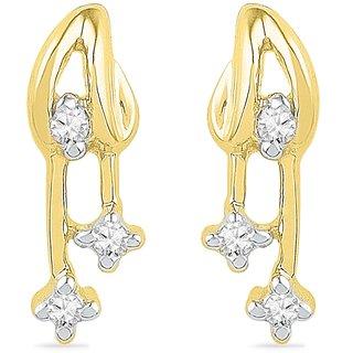 Ishis 18 Kt Beautiful  Yellow Gold Diamond Fashion Earring (0.05 CT)