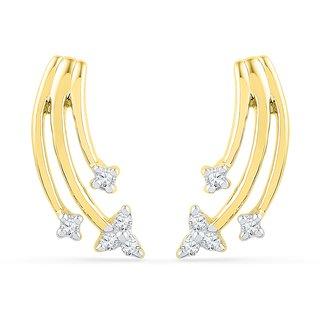 Ishis 18 Kt Elegant  Yellow Gold Diamond Fashion Earring (0.06 CT)