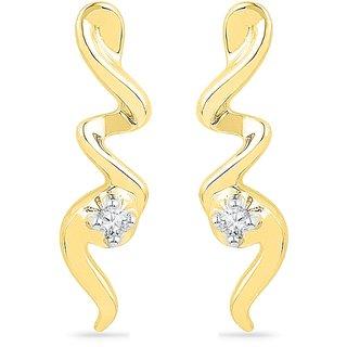 Ishis 18 Kt Beautiful  Yellow Gold Diamond Fashion Earring (0.04 CT) - Design 1