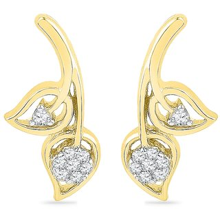 Ishis 18 Kt Authentic  Yellow Gold Diamond Fashion Earring (0.10 CT) - Design 2