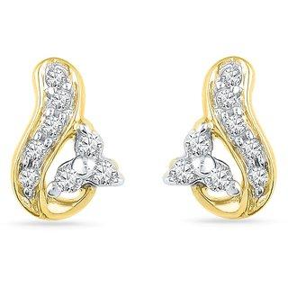 Ishis 18 Kt Fabulous  Yellow Gold Diamond Fashion Earring (0.10 CT) - Design 1