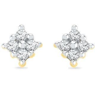 Ishis 18 Kt Beautiful  Yellow Gold Diamond Studs Earring (0.10 CT)