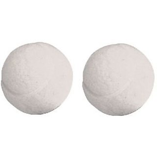 White Cricket Tennis Ball - Pack of 2