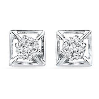 Ishis 18Kt White Gold Diamond Studs Earring (0.15 CT)