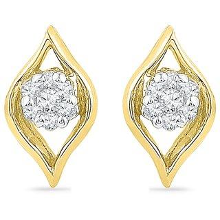 Ishis 18 Kt Vintage  Yellow Gold Diamond Fashion Earring (0.07 CT) - Design 2