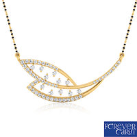 0.60ct Natural White Diamonds Mangalsutra 925 Sterling Silver Mangalsutra M-0005