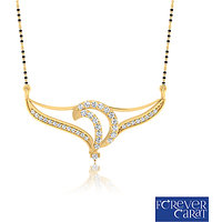 0.37ct Natural White Diamonds Mangalsutra 925 Sterling Silver Mangalsutra M-0045