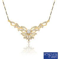 0.48ct Natural White Diamonds Mangalsutra 925 Sterling Silver Mangalsutra M-0049