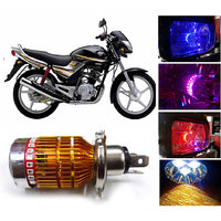 Spare-rack H4/ 3 LED Flasher Headlight Bulb with color changing ring For All Bikes