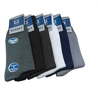 Set of 6 Pair - Cotton Socks Suitable for both Formal  Casual Wear