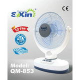 "SOXIN Rechargeable Emergency 10 Led Light 12""inch Electric Fan (QM-853)"