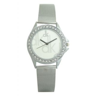 Grey Crystunned dial with Velcro strap for Girls  Women.