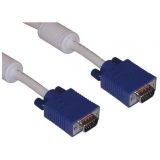 VGA TO VGA CABLE 15 PIN M-M LAPTOP-LCD TV 5 METER - 5 Meter