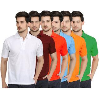 c69a44e094 Krazy Katz Premium Polo Neck T Shirts For Men (Pack of 6)