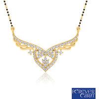 0.40ct Natural White Diamonds Mangalsutra 925 Sterling Silver Mangalsutra M-0033