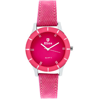 Elios Colors Monochrome Analog Pink Dial Womens Watch