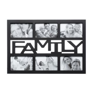 family picturephoto frame collage 6 photos black gift packing