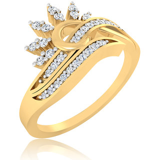 0.14ct Natural Diamonds Studded Ring 14K Hallmarked Gold Diamond Ring LR-0278G