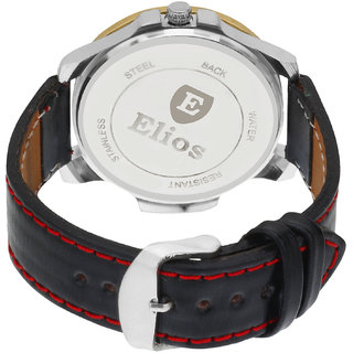 Elios Black Sports Dial Analogue Watch For Men EWM0027