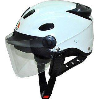 Aeroh Urban Glossy Unisex Clear Visor Motorbike Helmet - M