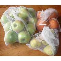 3pc Storage Net Bag for Fridge Refrigerator with zip/zipper stor