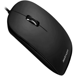 Astrum Aero Smart USB Optical Mouse 1000dpi Black