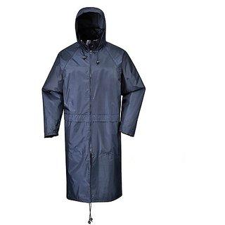 Long Raincoat knee length, Free size
