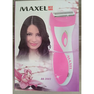 Maxel Rechargeable Lady Shaver Trimmer Razor AK2002