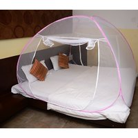 Mosquito Net Super King Size-Pink Color (With Cover Bag)