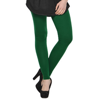 Kjaggs Cotton Lycra Dark Green Legging -KTL-15