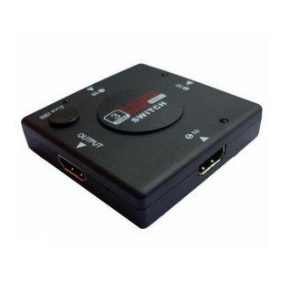 3 Port HDMI mini Switcher, 3 in 1 Switch 1080P HDMI Splitter HDTV, PC, DVD, PS3