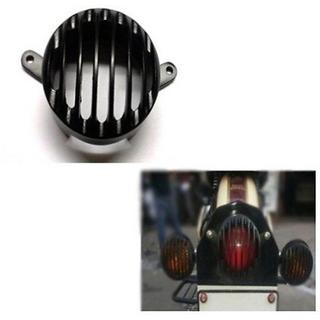 Biker World Customised Tail Light Grill Black for Enfield Bullet Classic