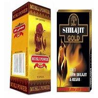 Musli Power Xtra 30 Capsules + Dabur Shilajit Gold 20 Caps COMBO PACK