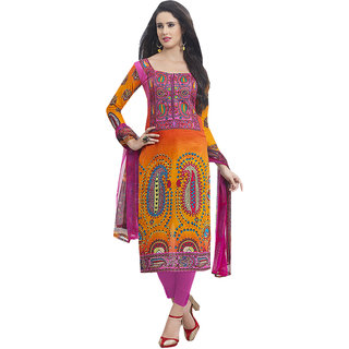 Style Mania Multi Cotton Printed Churidar Salwar Kameez