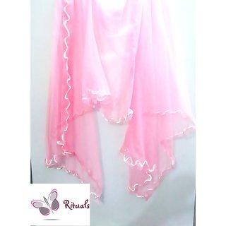 Fashion Stylish Net Stole-PINK